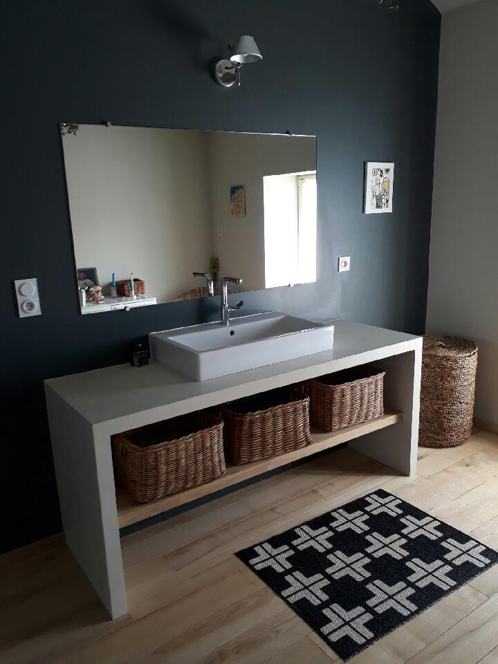 création meuble salle d'eau